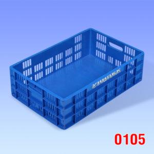 Naveta tip Euro, fund solid, pereti ventilati 600x400x180