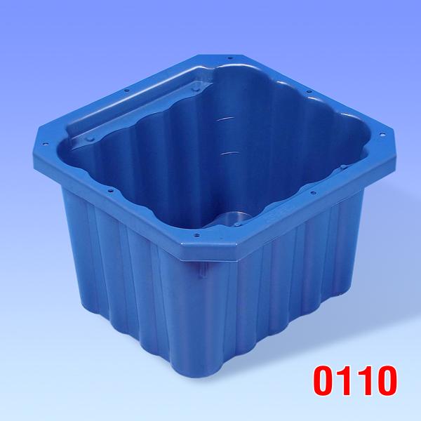 Container din plastic pentru lapte 406x406x265