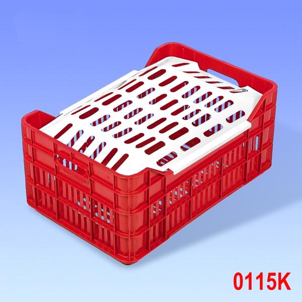 Ladita plastic P&Z cu capac 530x350x240