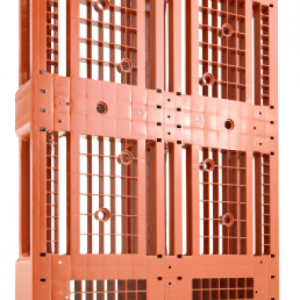 Euro Palet din plastic usor 1200 x 800 D1 – 1500 capacitate dinamica, 7 rims