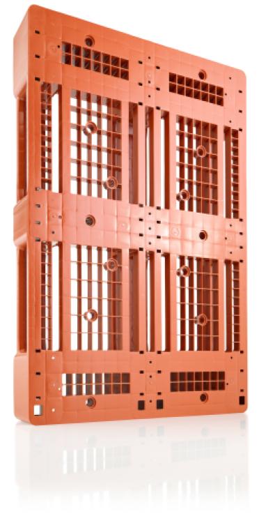 Euro Palet din plastic usor 1200 x 800 D1 – 1000 capacitate dinamica, 7 rims