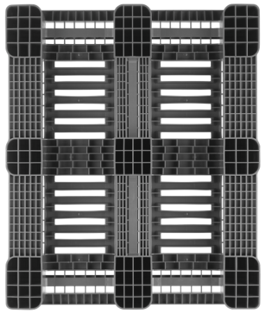 Palet industrial din plastic 1200 x 1000 CR3 / CR3-5 – 5 sine