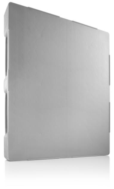 Palet industrial inchis din plastic 1200 x 1000 TC3 / TC3-5 – 5 sine, 2000 capacitate dinamica