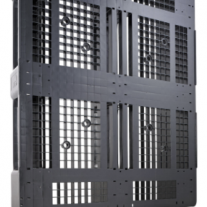 Palet industrial din plastic reciclat 1200 x 1000 D3 – 5 sine, 1500 capacitate dinamica, 7 rims