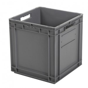 CONTAINER CU BAZA INTARITA SI MANERE DESCHISE TPO – 400 x 400 x 420 H