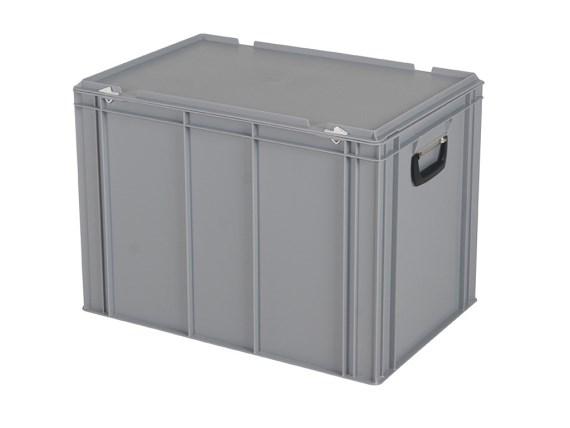 CONTAINER DE PLASTIC CU CAPAC, MANER SI BAZA INTARITA TPO – 600 x 400 x 439 H