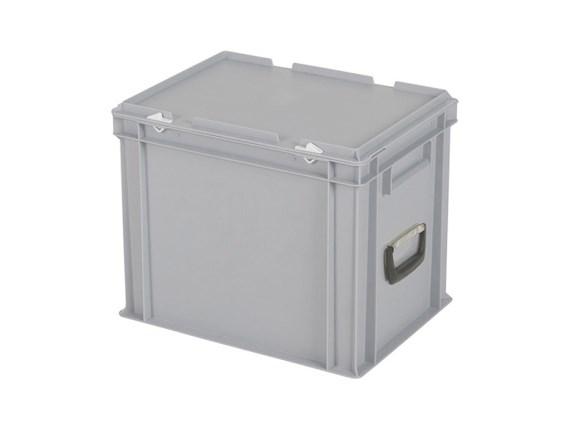 CONTAINER DE PLASTIC CU CAPAC SI MANER TPO – 400 x 300 x 335 H