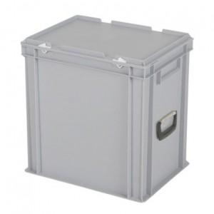 CONTAINER DE PLASTIC CU CAPAC SI MANER TPO – 400 x 300 x 405 H