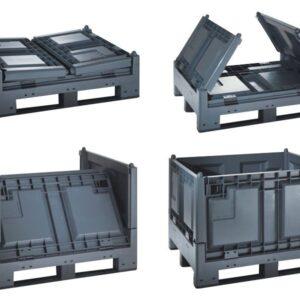 Container mare pliabil MegaFold 2187 1 reg. gri închis 1200 x 1000 x 847 mm
