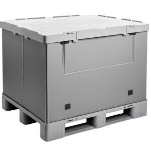 Recipient mare pliabil Mega-Pack Hybox 1000 gri 1200 x 1000 x 940 mm