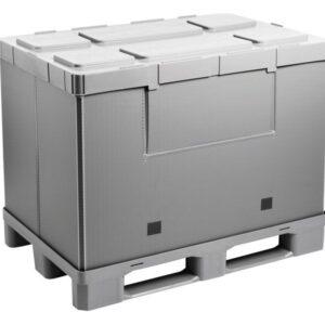 Recipient mare pliabil Mega-Pack Hybox 1200 gri 1200 x 800 x 940 mm