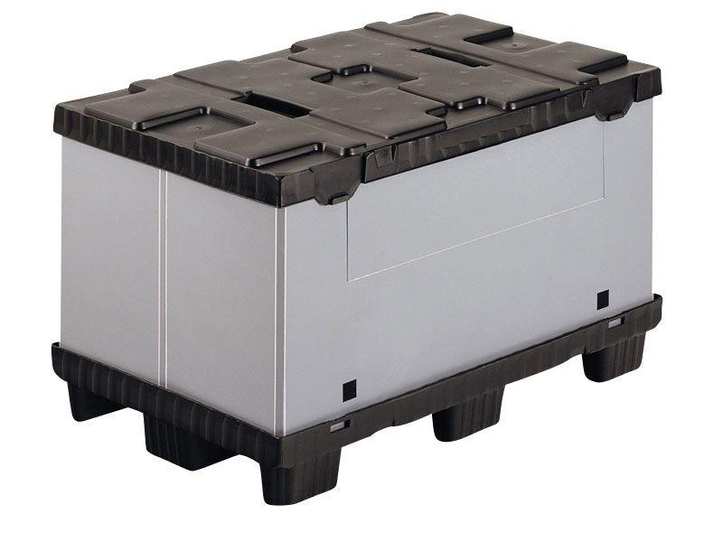 Recipient mare pliabil Mega-Pack 600 gri-negru