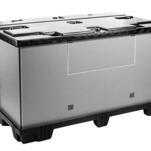 Recipient mare pliabil Mega-Pack 1800 gri-negru
