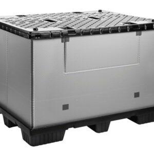 Recipient mare pliabil Mega-Pack 1500 gri-negru