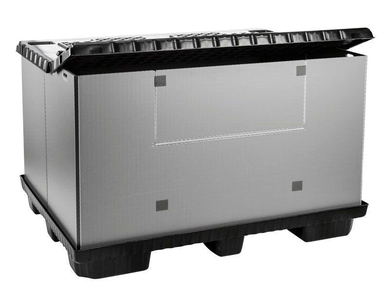 Recipient mare pliabil Mega-Pack 1600 gri-negru