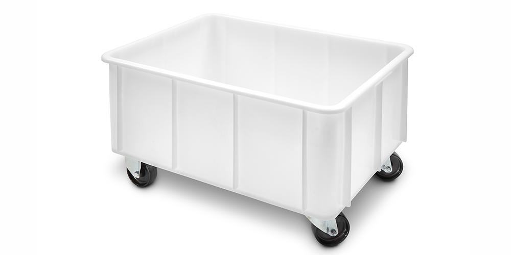 Container Pliabil cu buze curbate si roti 800x600x460