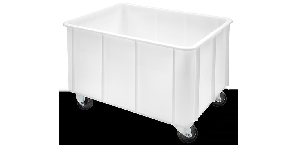 Container Pliabil cu buze curbate si roti 800x600x560