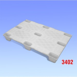 Palet plastic industria alimentara cu noua picioare 1200x800x140