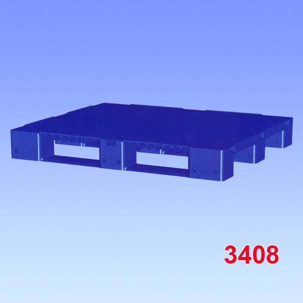 Palet standard din plastic cu trei talpici 1200x1000x150