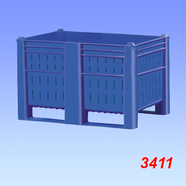 Boxpalet standard plastic, model 800, perforat 1200x800x740