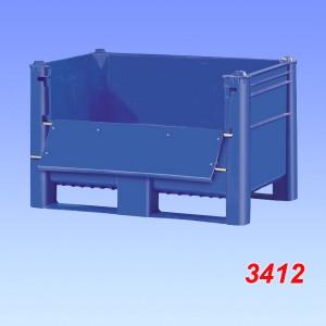 Boxpalet plastic, model 800 cu usita laterala 1200x800x740