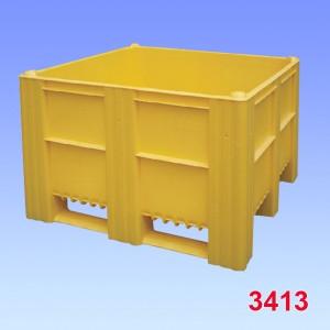 Boxpalet plastic 1000-ACE, solid, 3 talpici de sustinere 1200x1000x740