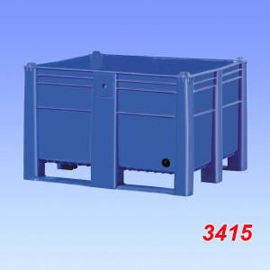 Box palet plastic model 1000, cu gaura de drenaj 1200x1000x740