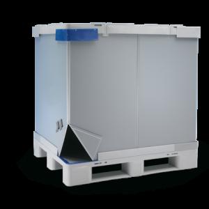 Palet tip container TipBoxÂŽ 1200 x 1000