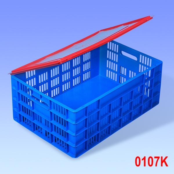 Naveta euro standard cu capac 600x400x235