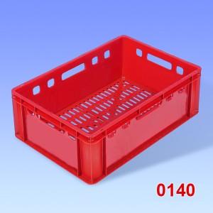 Naveta plastic pentru carne, fund cu aerisire si pereti solizi 600x400x200