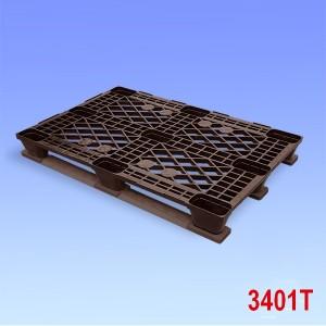 Palet din plastic usor cu trei talpici 1200x800x162