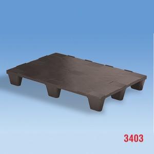 Palet industrial cu noua picioare din plastic 1200x800x140